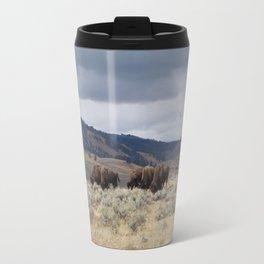 Bison in Yellowstone National Park Travel Mug