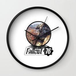 Fallout 76 circle Wall Clock