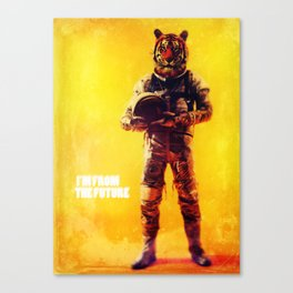 I'm from the future Canvas Print
