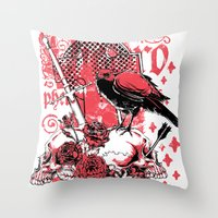 religious Throw Pillows featuring Religious war by Tshirt-Factory