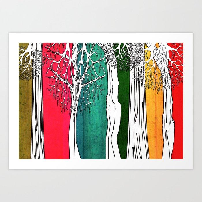 Color Forest Art Print