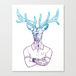 bambi's a grown up now  Canvas Print
