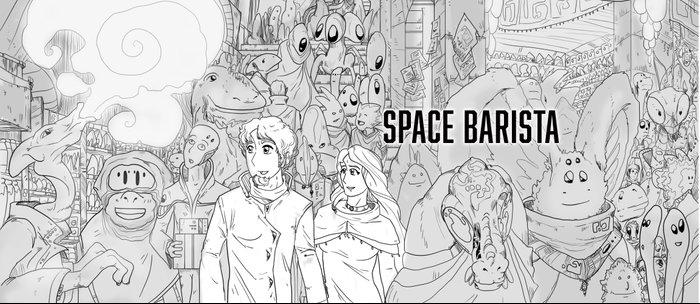 Space Barista Night Market Coffee Mug