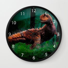 Carnotaurus Dinosaur Cretaceous Period Grass Trees Wall Clock