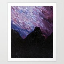 Night Sky, Mountain High Art Print