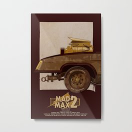 Mad Max's Black on Black Interceptor from The Road Warrior, 1 of 3 Metal Print