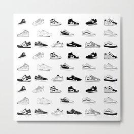 Sneakers White Metal Print