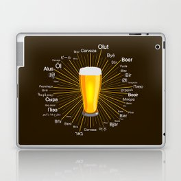"""Beer"" in 45 different languages Laptop & iPad Skin"