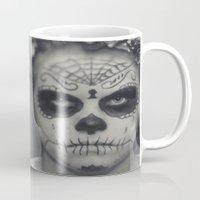 dia de los muertos Mugs featuring Dia de los muertos by Brandy Coleman Ford