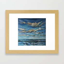 The Big Blue Framed Art Print