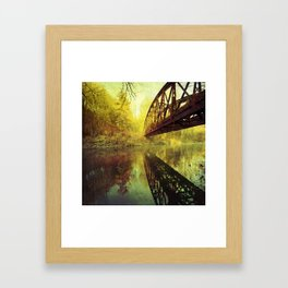 Bridge over untroubled water Framed Art Print