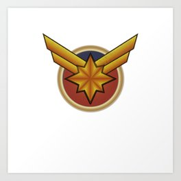 Captainmarvel embroidered Art Print