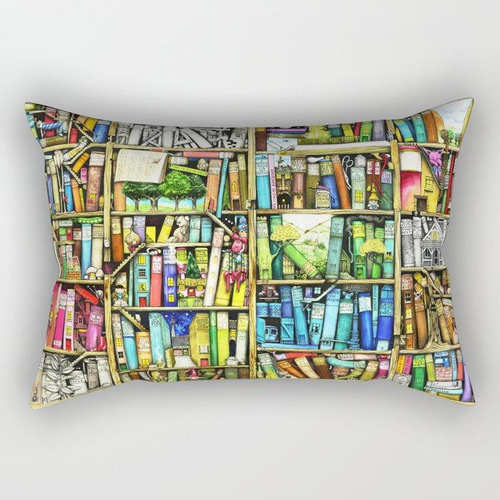 Bookshelf Fantasy Rectangular Pillow