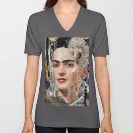 Frida Kahlo Tribute Unisex V-Neck
