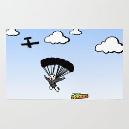 Skydiving Ferret Rug