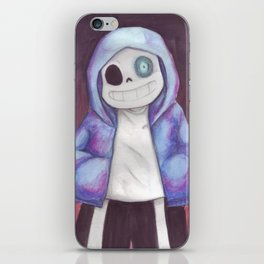 sans undertale iPhone Skin