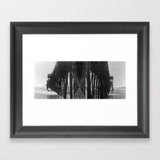 Triptic Pier Framed Art Print