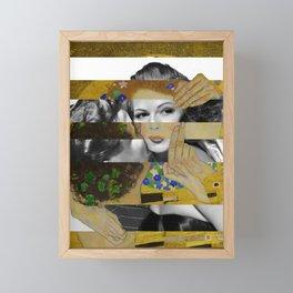 Klimt's The Kiss & Rita Hayworth with Glenn Ford Framed Mini Art Print