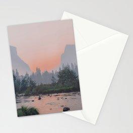 Yosemite Valley Sunrise Pretty Pink Stationery Cards