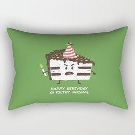 Happy Birthday Ya Filthy Animal Rectangular Pillow
