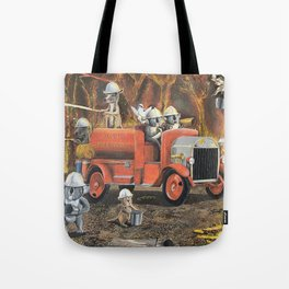 The Aussie Fire Truck Tote Bag
