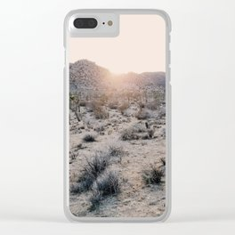 Sunset in Joshua Tree National Park Clear iPhone Case