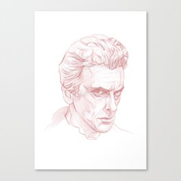 Peter Capaldi as Doctor Who, Twelfth Doctor Canvas Print