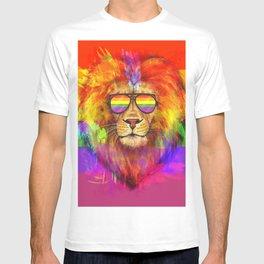 Rainbow Lion Pride T-shirt