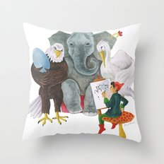 The Alphabet Series - Letter E - The Family Portrait Throw Pillow