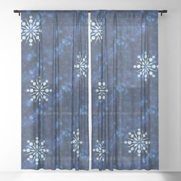 Celestial Santa Sheer Curtain