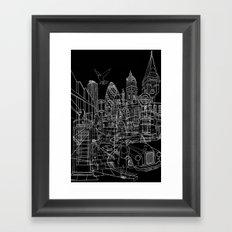 London! Dark T-shirt version Framed Art Print