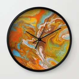 Orange Fizz Wall Clock