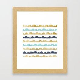 Golden Pastel Clouds Framed Art Print