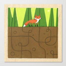 Earth Fox Canvas Print