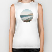big sur Biker Tanks featuring Big Sur Cairn by M. Wriston