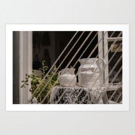 Plant & Porcelain Carafe Art Print