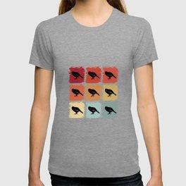 Retro Pop Art Kakapo Bird Gift Idea T-shirt