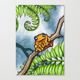 One Happy Frog Canvas Print