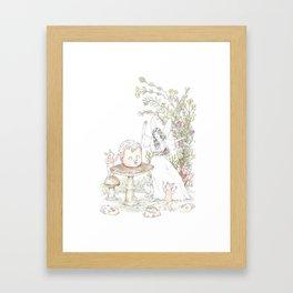 Fairies at the Bottom of the Garden Framed Art Print