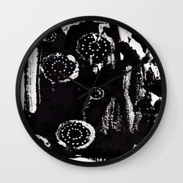 Black and White Abstract 2 Wall Clock