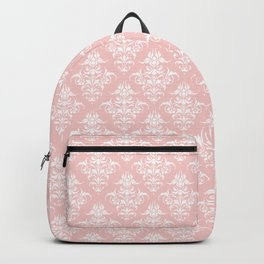 Damask Pattern | Rose Quartz | Pantone Color of the Year 2016 Backpack