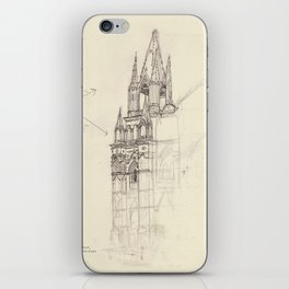 Santa Ana El Salvador Ink Drawing iPhone Skin
