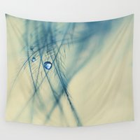 feather Wall Tapestries featuring feather by Ingrid Beddoes photography
