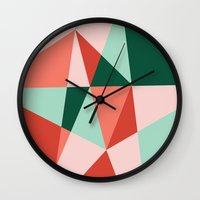gem Wall Clocks featuring Gem by lizzy gray kitchens