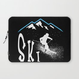 Downhil Skiing Laptop Sleeve