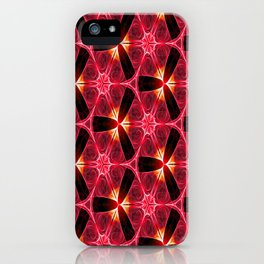 Chainlink Pattern (red) iPhone Case