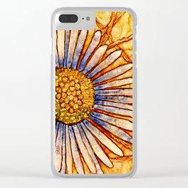 Moon Daisy Clear iPhone Case