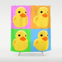 Fuzzy Duck Quad Shower Curtain