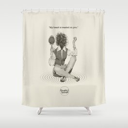 Wasted Heart Shower Curtain