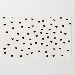 Lots of Little Hearts Brush Strokes Pattern Rug